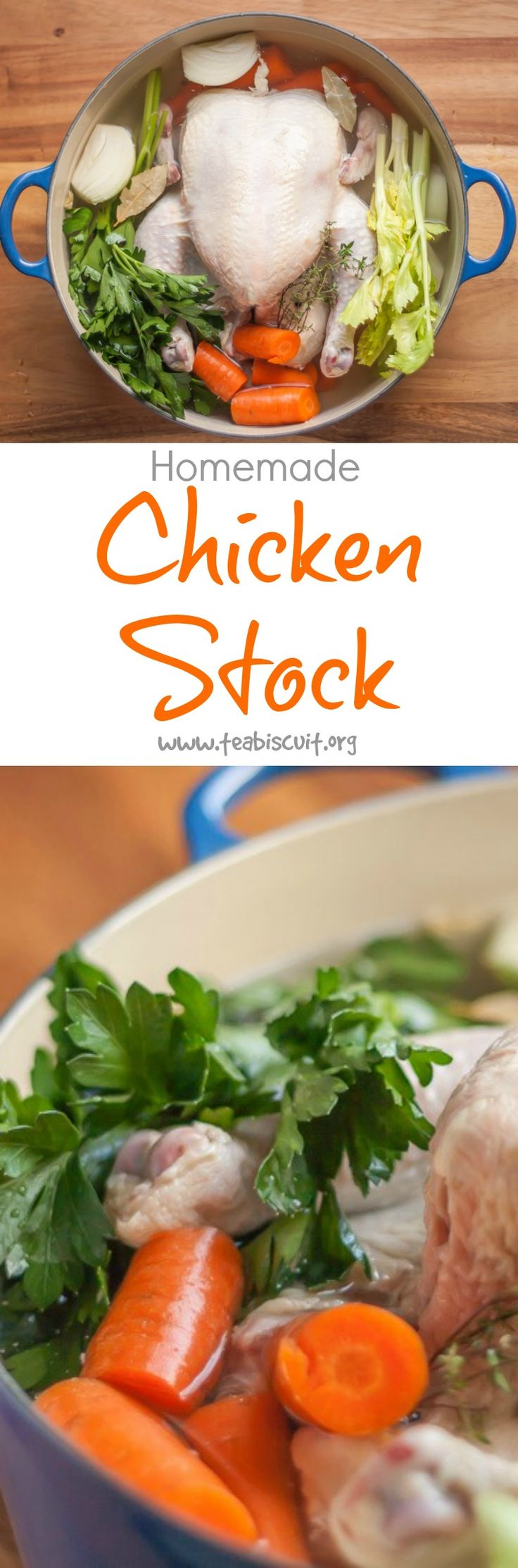 How to Cook Chicken Stock Homemade   A One Pot recipe for Chicken Stock that's a great alternative to the store bought varieties