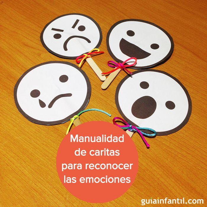 Para que los niños aprendan a expresarse, te recomendamos esta manualidad. http://www.guiainfantil.com/articulos/ocio/manualidades/manualidad-para-ninos-caritas-para-aprender-las-emociones/