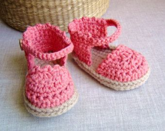 CROCHET PATTERN Baby Espadrille Sandals Easy Photo Tutorial instant download Baby shoes pattern PDF