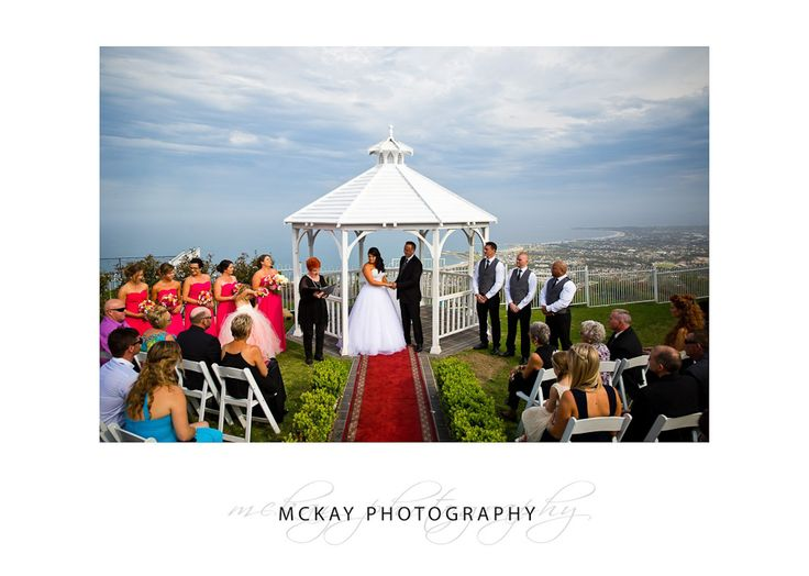 The ceremony spot at Panorama House in Bulli - pretty awesome view!  #panoramahouse #bulli #wedding #mckayphotography