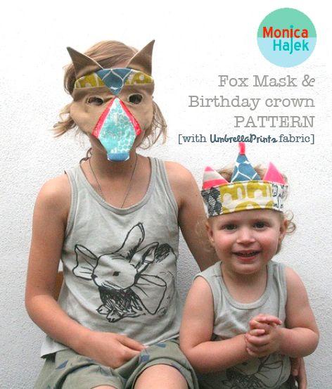 Umbrella Prints: Birthday Crowns, Birthdays, I Love Kids Craft, Creative Kids, Beautiful Kids, Sewing Tutorials, Fox Mask