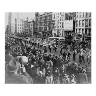 German American Bund parade in New York NY 1939