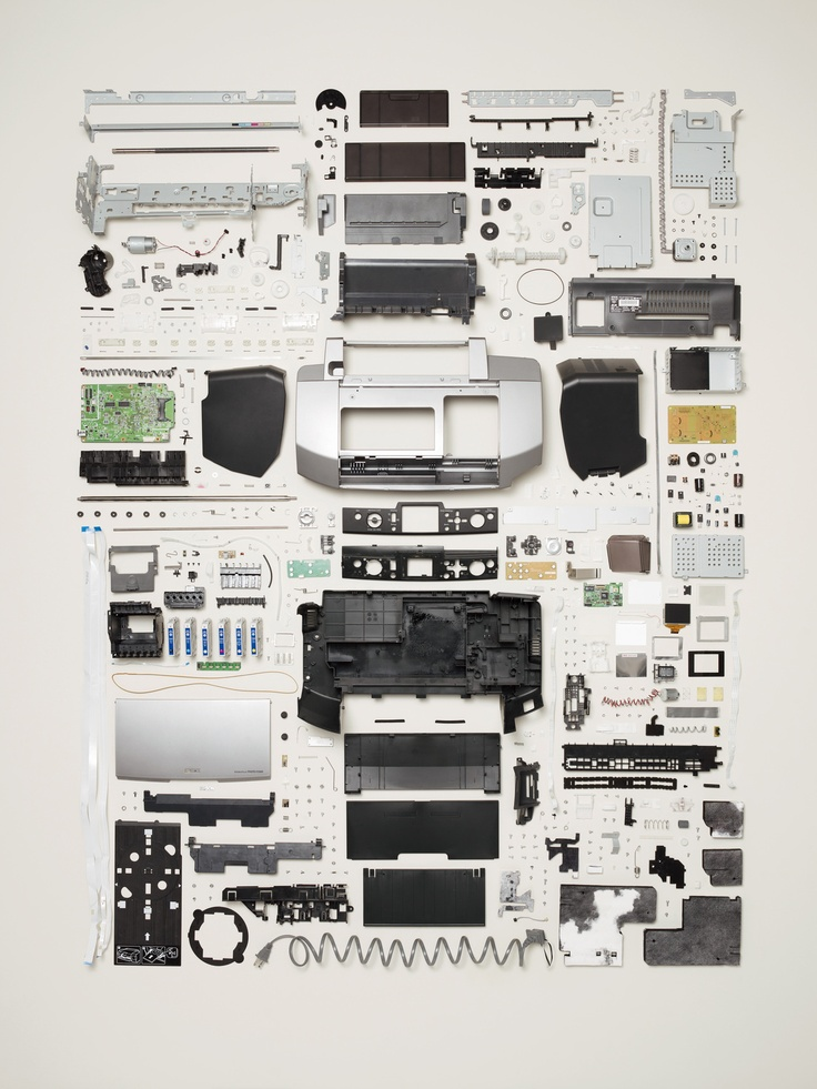 Printer - Things Come (Very, Very) Apart - All images from Things Come Apart: A Teardown Manual for Modern Living, Photographs © 2013 Todd McLellan.