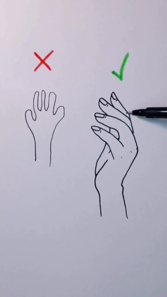 Christoph Condsty On Tiktok How To Draw Hand Artchallenge Drawing Menggambar Tangan