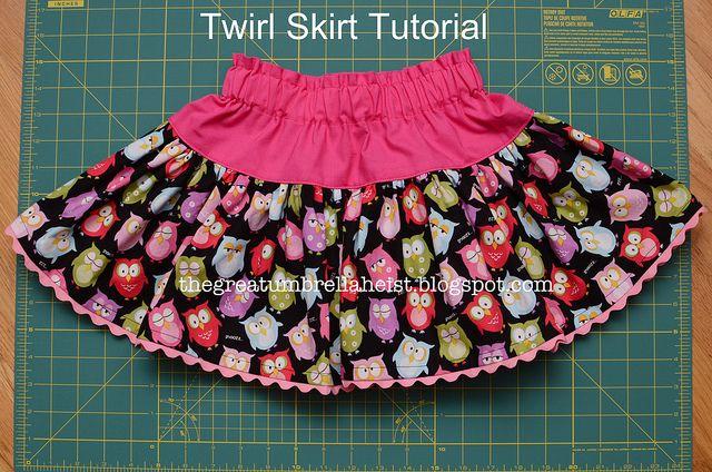 Free twirl skirt tutorial!