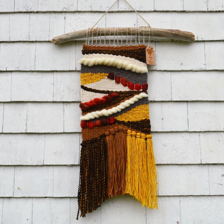 Harvestscape weaving. Made in Lunenburg, NS by Woolly Thyme Weavings.