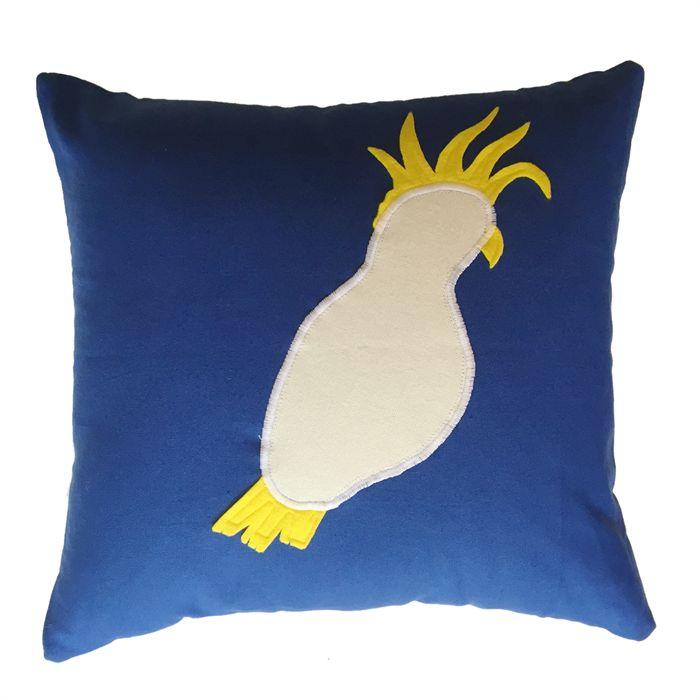 Cockatoo Applique Cushion