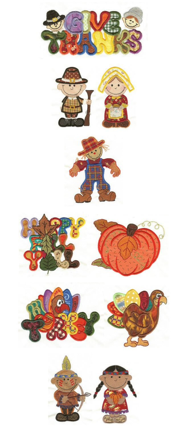 Embroidery   Free Machine Embroidery Designs   Give Thanks Applique