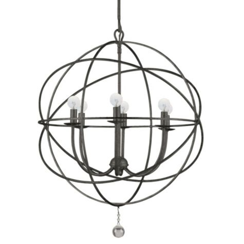 "Eclipse Chandelier - English Bronze 22"" from Z Gallerie: Lights, Dining Room, Lighting, Chandeliers, English Bronze, Living Room, Crystorama"