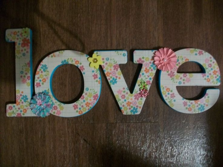 Chipboard Letters Ideas ~ Chip decor love chipboard crafts pinterest