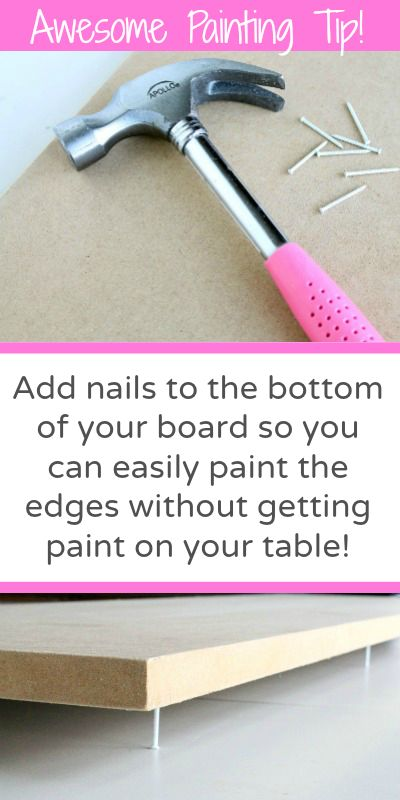 When making your own signs. - AWESOME PAINTING TIP to easily paint around edges without getting paint on the table! Must pin! #tip