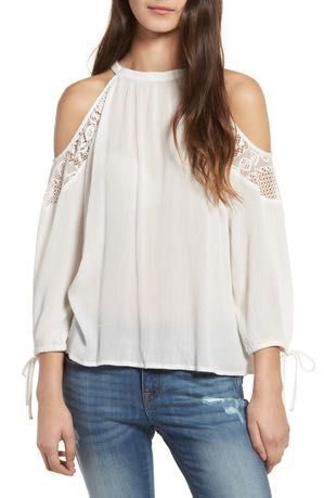 Band of Gypsies Crochet Cold-Shoulder Top