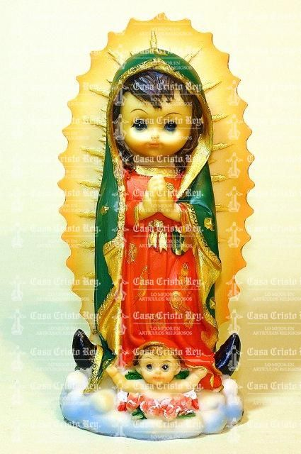 Casa Cristo Rey - Our Lady of Guadalupe. Cartoon-like Sculpture. Resina. 13 cm 632377