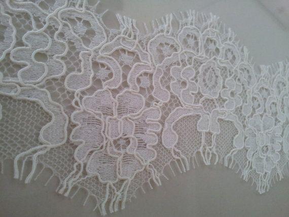 Ivory Lace Trim Alencon Lace French Lace Bridal lace