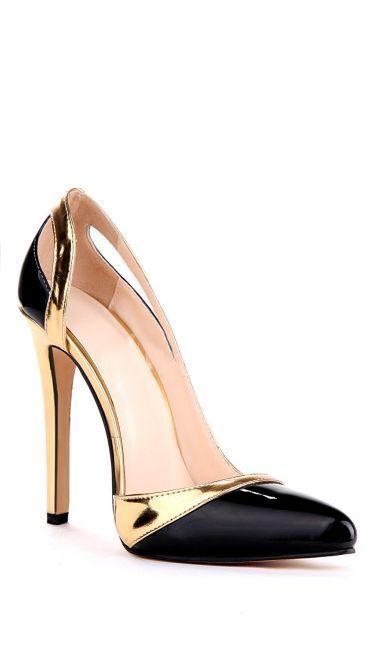 f381ffda65d5 Tendance Chaussures Black   Gold Pumps Me han hecho los ojos chiribitas que maravilla  por favor