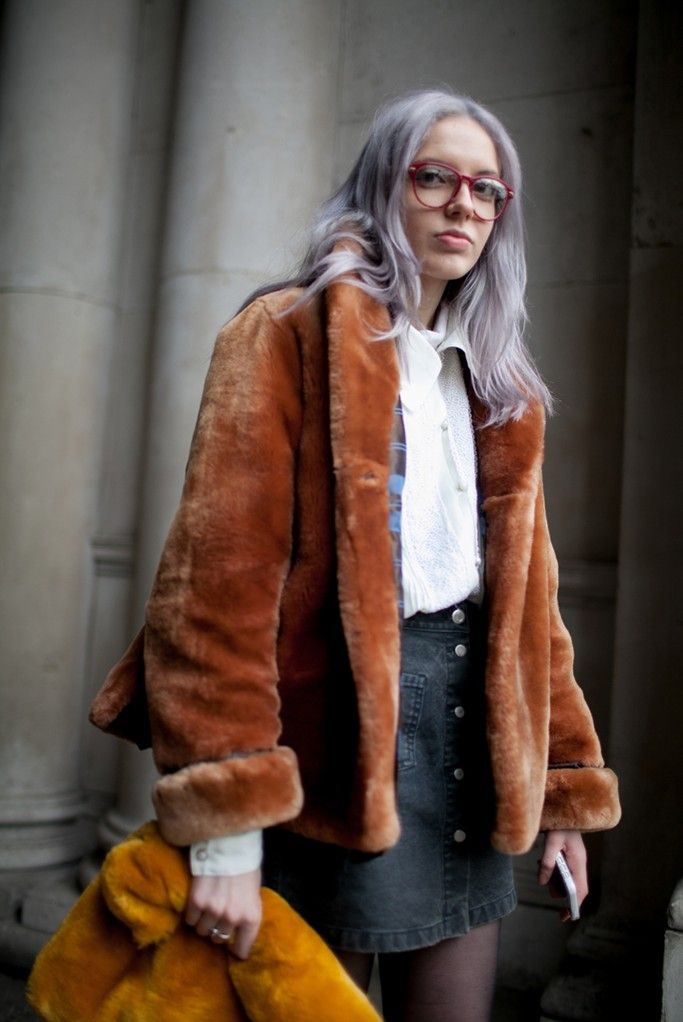 London Fashion Week street style. [Photo by Kuba Dabrowski]