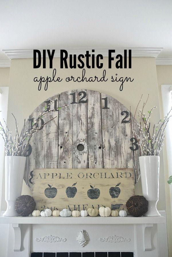 DIY Antique Orchard Fall Sign - lizmarieblog.com