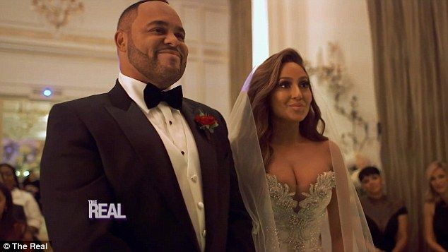Be their guest: Adrienne Bailon and Israel Houghton wed on Friday in Paris and now fans can feel like they were part of the intimate wedding celebration with a sneak peek of the stunning celebration has been released ahead of Tuesday's special on The Real