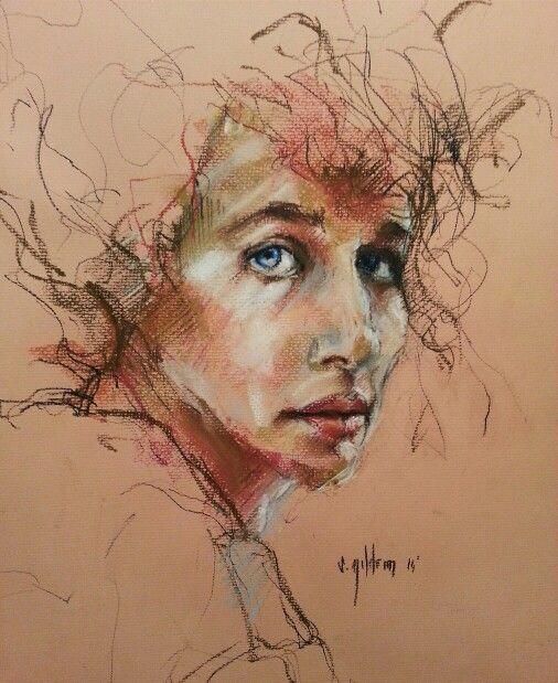 Sena Yıldırım - Soft Pastel Portrait #art #artist #Portrait #pastel #drawing #sanat #portre