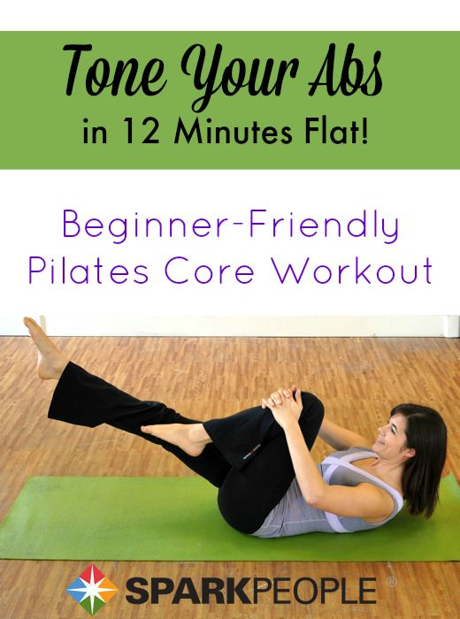 Flatten your tummy with Pilates: These exercises are proven to target the transverse abdominis, the deepest abdominal muscles that pull your belly in flatter and tighter with training. | via @SparkPeople #fitness #exercise #workout #core #abs