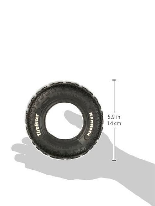 TireBiter Small Chew Toy Interactive Toy Real Tire Natural Rubber, Black, 6-Inch #Mammoth