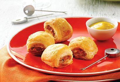 Bouchées de saucisses enrobées de pâte