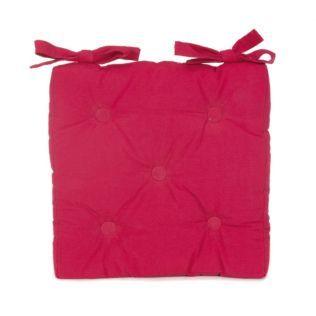 Coussin de chaise rose Fuchsia - Alméra - Les coussins de chaise - Coussins décoratifs - Linge de maison - Décoration d'intérieur - Alinéa