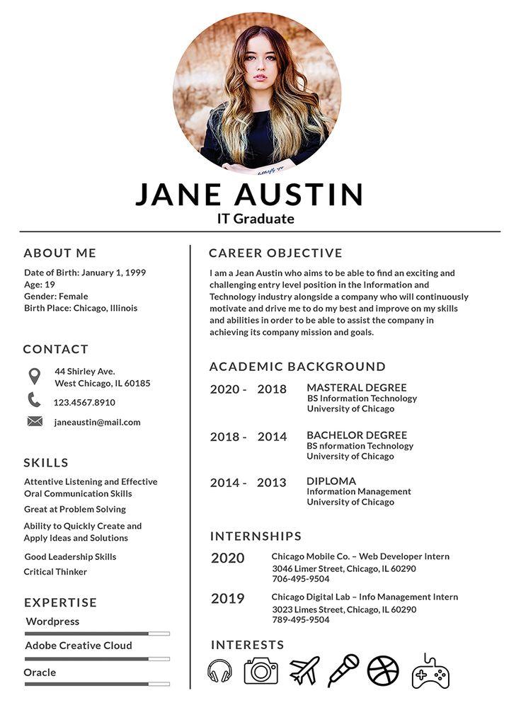 Basic fresher resume template resume template word