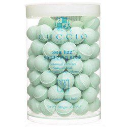 Cuccio Naturale Manicure Soak Balls, 100 ct, Original Sea Fizz by Cuccio. $46.50. Perfect for manicure soak. Loaded with botanicals. Whitens nails & quenches skin. Cuccio Cuccio Sanitizing Manicure Soak are soak balls that are absolutely loaded with natural botanicals and ingredients for whitening nails.  The perfect way to begin a mani, drop Cuccio Sea Fizz into warm water to soak hands for the professional feel of salon  manicure. Cuccio Sea Fizz will whiten nails and q...