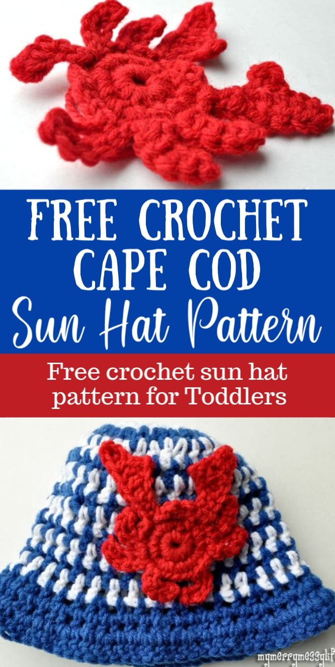 Free Crochet Cape Cod Sun Hat Pattern for Babies – My Merry Messy ...