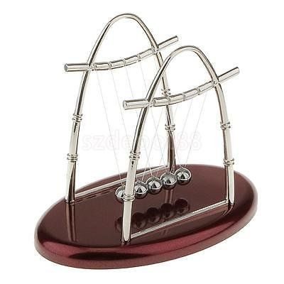 Newton's Cradle Balance Ball Physics Science Desk Toy Accessory Gift Arch S. #Newton's #Cradle #Balance #Ball #Physics #Science #Desk #Accessory #Gift #Arch