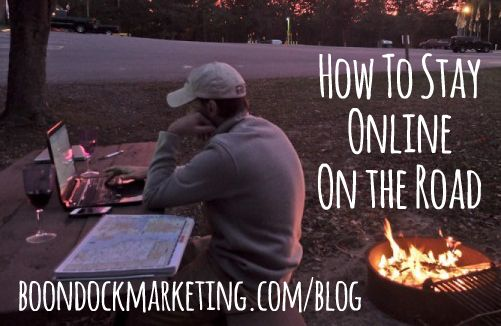 How to Stay Online On the Road. Tips and tricks from a couple who work full-time from an #Airstream. #RV