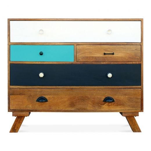 Cult Living Jasmine Multi-Coloured Chest of Drawers Teal | Cult UK