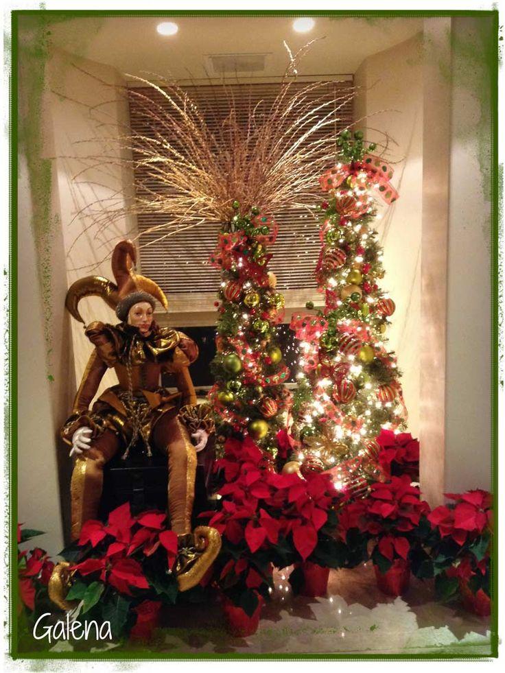 Decoración de navidad rojo con verde