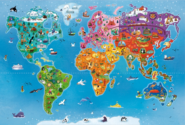 Love this map. Illustrated by Eugenie Varone