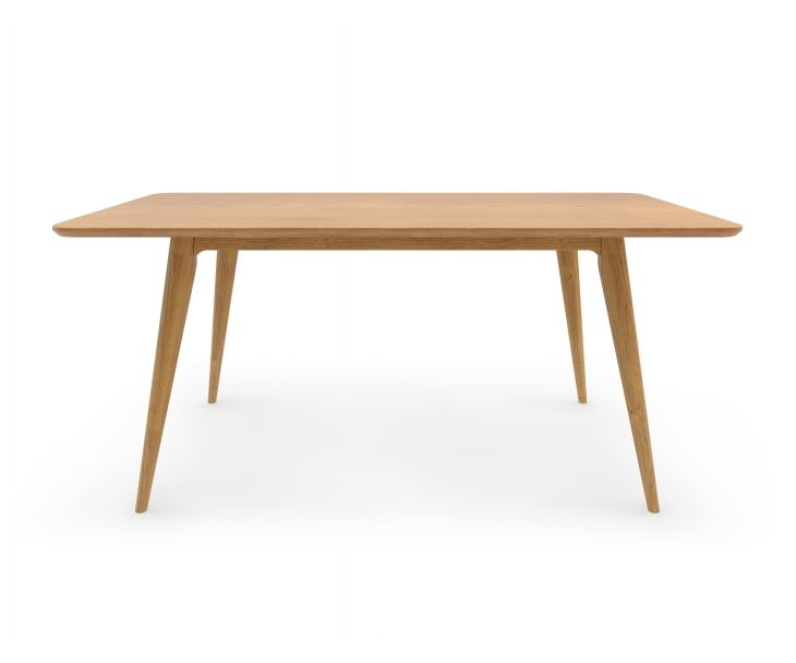 The Sven Table features an elm veneer table top made of environmentally friendly FSC certified FAS grade lumber that is durable and easy to maintain, and a base made from solid American oak. Clean lines and a solid wood finish is offers the most simple table yet.