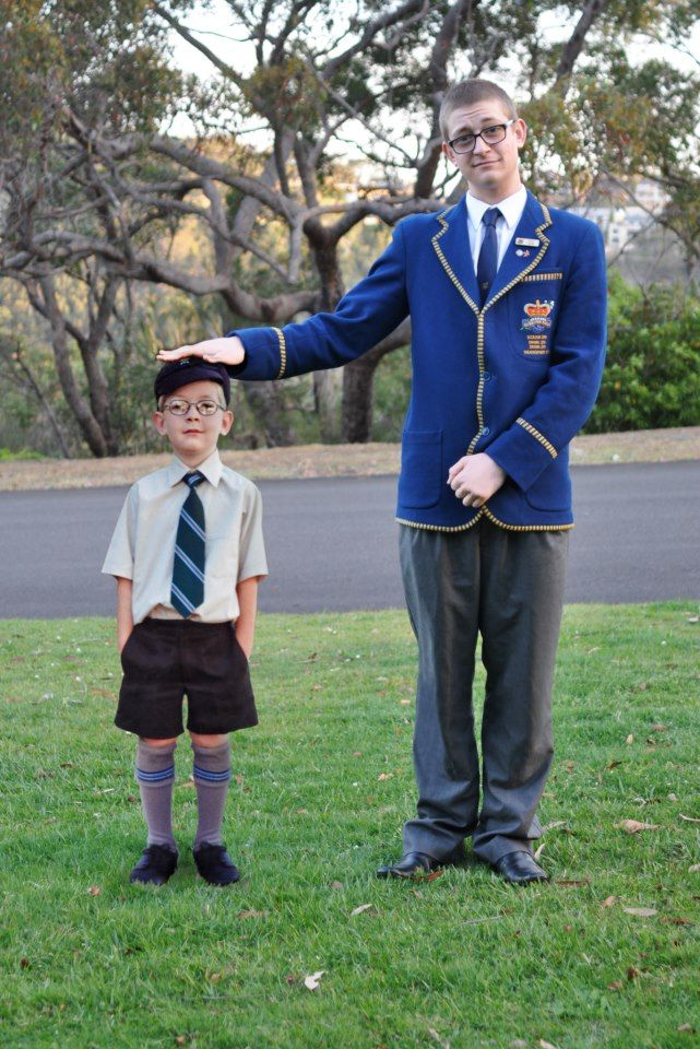 Great way to use photoshop - This is a picture of his first AND Last day of school. I will be doing this!