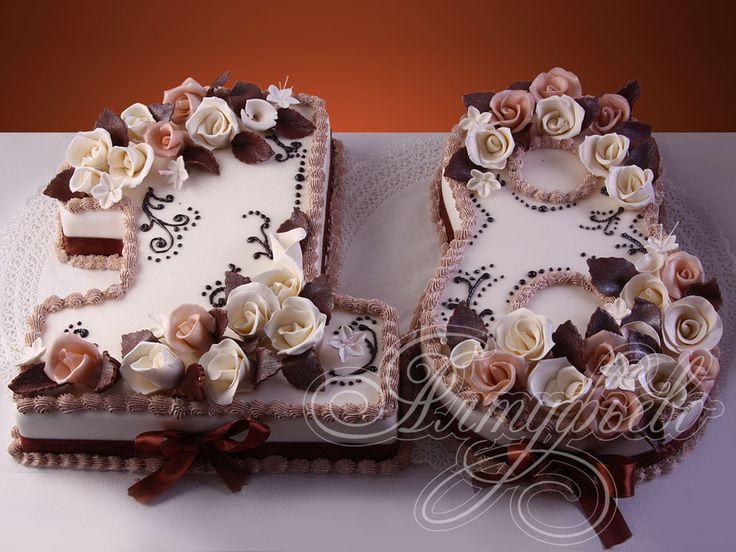 Подарочный торт на 18 лет  цифра 18 на совершеннолетие № 527