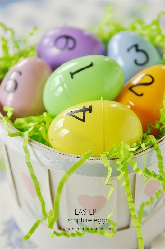 Easter Scripture Eggs. Great idea for keeping the true meaning of Easter.