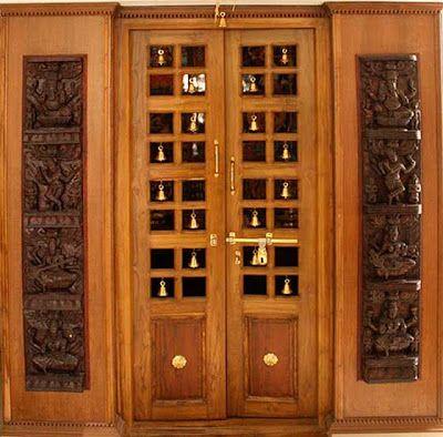 Perfect Wood Design Ideas: Latest Pooja Room Door Frame And Door Design Gallery |  South Indian Designs In 2018 | Pinterest | Pooja Rooms, Room And Puja Room