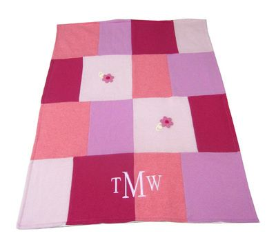 Namely Newborns - Pink Patchwork Cashmere Baby Blanket | Luxurious Monogram Gift, $190.00 (http://www.namelynewborns.com/pink-patchwork-cashmere-baby-blanket-luxurious-monogram-gift/)