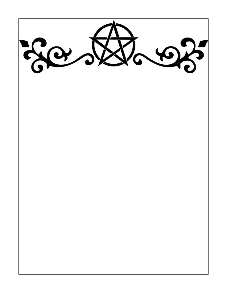 Printable Stationary Page Book of Shadows Free Download