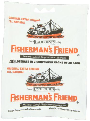 Fisherman's Friend Original Extra Strong Cough Suppressant Lozenges, 40-Count Bags (Pack of 12) - Fisherman's Friend Original Extra Strong Cough Suppressant Lozenges, 40-Count Bags (Pack of 12)  List Price: $26.49   Category: Candy Bars / Gum / Cough Drops    List Price: $26.49 Your Price: $22.68-   Your Price: $22.68 –    - http://homehealthbeautychoices.com/blog/fishermans-friend-original-extra-strong-cough-suppressant-lozenges-40-count-bags-pack-of-12/
