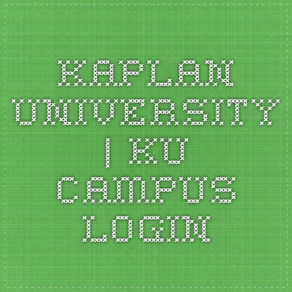 Kaplan University   KU Campus - Login
