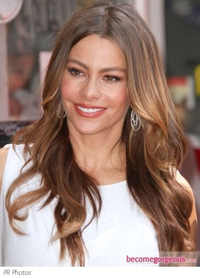 sofia vergara hair color | Sofia Vergara Loose Wavy Hairstyle - Sofia Vergara Hairstyles Pictures