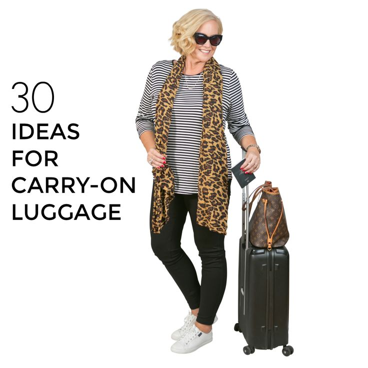 30 ideas for carry-in luggage. Travel style with Styling You.