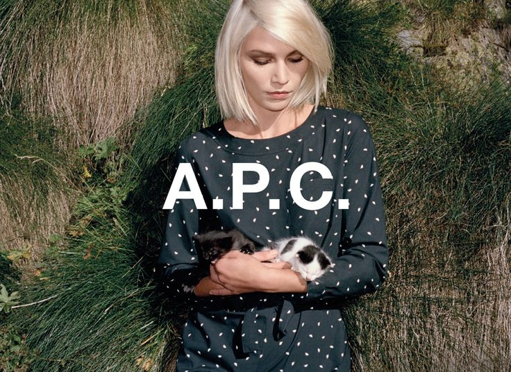 A.P.C. spring 2014 pre collection. Aline Weber shot by Walter Pfeiffer.