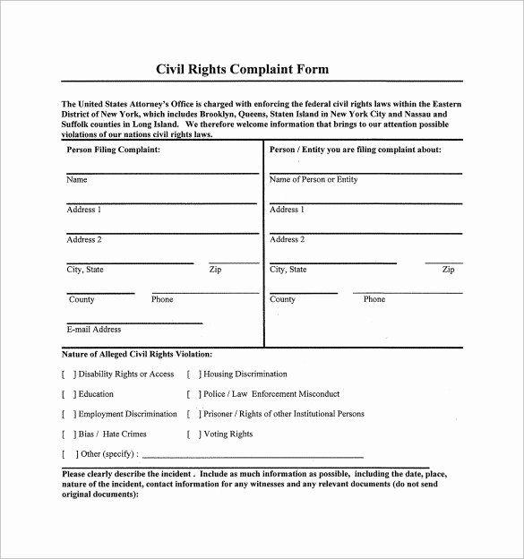 Civil Complaint Form Template In 2020 Sample Resume Good Essay