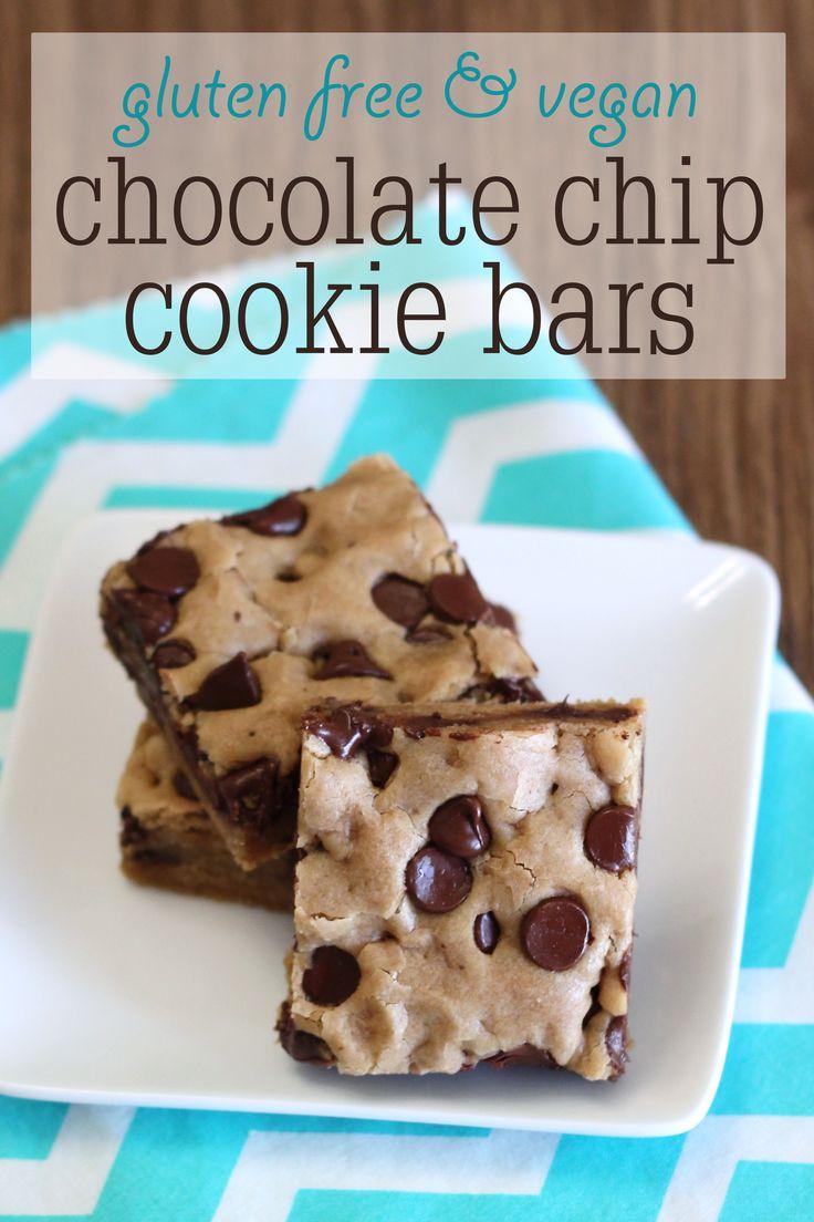 Vegan and Gluten Free Chocolate Chip Cookie Bars