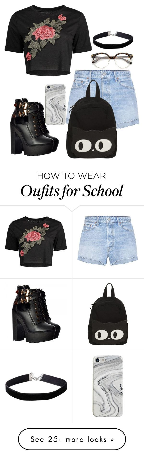 """""""Untitled #800"""" by queenofllama on Polyvore featuring GRLFRND, Recover and Miss Selfridge"""